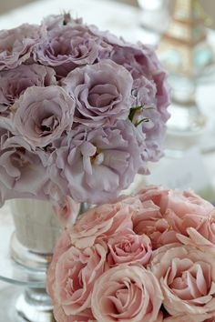 """Tea Roses in Teacups. Have your baby shower guests saying """"Oo la la"""" with this pastel flourish."""