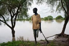 South Sudan refugee  - The source to sea crew heard many horror stories on their route North.
