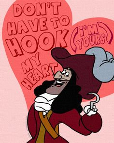 *CAPTAIN HOOK ~ Peter Pan, 1953 Disney valentines
