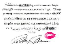 Marilyn says it best