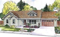 Contemporary Cottage Country Craftsman Ranch House Plan 59724