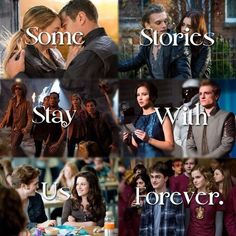 Divergent, The Mortal Instruments, Percy Jackson, The Hunger Games, The Twilight Saga, Harry Potter. I have never seen mortal instruments but seen the rest.