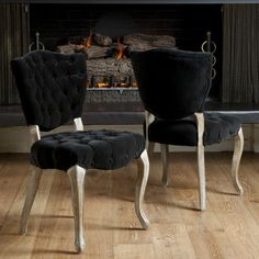 Best Selling Home Bates Tufted Fabric Dining Chair - Set of 2 | Jet.com