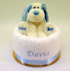 Embroidered nappy cake baby boy hippo embroidered nappy cakes sandysgifts is an online baby gift store with a wide range of embroidered baby giftsbaby gift boxes and nappy cakes same day delivery sydney negle Image collections