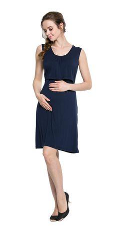 Maternity Styles - prim maternity dresses   BabyPreg Women Maternity and  Nursing Dress Pregnancy Breastfeeding Long b677e77e0220