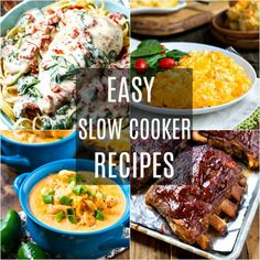 The slow cooker can be a life saver on busy days. Here are some of my favorite slow cooker recipes that are super easy to prepare and taste delicious. The whole family will enjoy these Slow Cooker Pressure Cooker, Best Slow Cooker, Crock Pot Slow Cooker, Crock Pot Cooking, Slow Cooker Recipes, Crockpot Recipes, Cooking Recipes, Fast Easy Meals, Frugal Meals