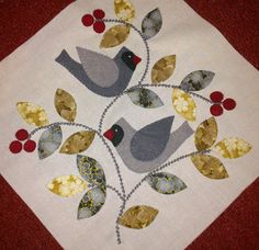 LOVE this block!  Block 1 by anitasiep(note to self: do w/cardinals & holly leaves)