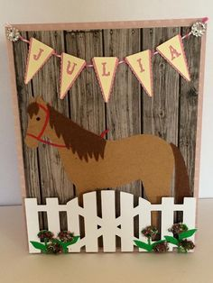 Horse Birthday Card By HFOLTZDESIGNS On Etsy Parties Kids Cards Diy