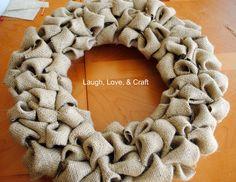 burlap wreath tutorial | Burlap Wreath Tutorial