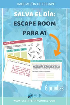 Escape room - Play this fun and educational escape room in ELE class spanishteacher – Escape room Escape Room, Teaching Spanish, Teaching English, Breakout Edu, Spanish 1, Learn Spanish, Teacher Helper, Flipped Classroom, Number Sense