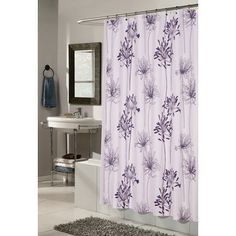 Purple shower curtain | Bathroom | Pinterest | Purple, Apartments ...