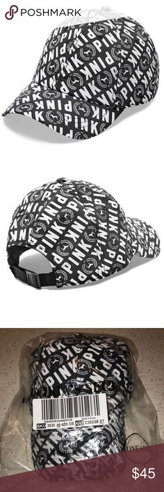 Vs Victoria's VS VICTORIAS SECRET PINK SPORT CLIP BASEBALL HAT CAP   Product Details  Top it off in the season's must-have hat! Color: Black & White Allover print Sport clip Adjustable One size fits all Imported nylon.      PAIR WITH YOUR FAVORITE VS VICTORIAS SECRET PINK SLIDE SANDALS.        PRICE FIRM PINK Victoria's Secret Accessories Hats
