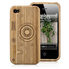 Camera Pattern Hard Wooden Case For iPhone - Brown Buy Iphone, Cool Iphone Cases, Iphone 4s, 4s Cases, Apple Iphone, Samsung Accessories, Cell Phone Accessories, Iphone Headphones, Latest Games