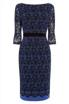 Buy Flocked Lace Pencil Dress from the Next UK online shop