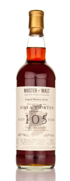 NUMBER 2 MOST EXPENSIVE IN WORLD IS: 105 Year Old Master of Malt $1,400,000 For info see website-SR