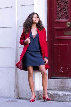 Sangbarani: Manteau en laine rouge