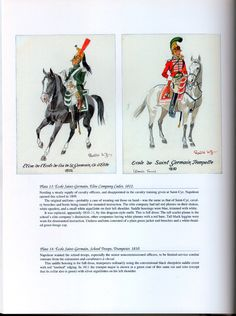 National Guard, Schools, Guards of Honor: Plate 13: École Saint-Germain, Elite Company Cadet, 1812. + Plate 14: École Saint-Germain, School Troops, Trumpeter, 1810.