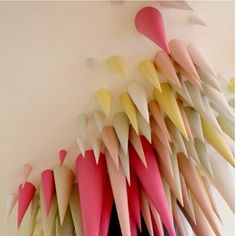 """Roll paper into cone shape stick on Ceiling #diy"""
