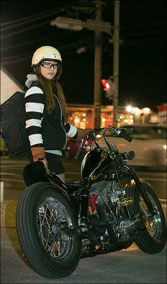 MIKI / 1972 HARLEY-DAVIDSON FLH ガールズライダー 【STREET-RIDE】ストリートバイク ウェブマガジン