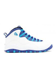 fce40763a86 Air Jordan Retro 10 Charlotte White Concord Blue Lagoon Blk 310805 107