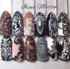Шикарные варианты кружевных дизайнов от Irina Marten  •••••••••••••••••••••••••••••••••••••••••••• #pronail #kodi #kodiprofessional #style #beauty #naildesign #mynails  #nailshop #perfectnails #polish #manicure #nailart #коди #гельлак #купитьгельлак #маникюр #дизайнногтей #идеиманикюра #идеальныйманикюр #вседляногтей  #покрытиегельлаком #осеннийманикюр