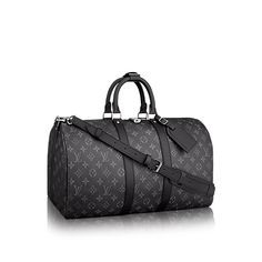 Discover Louis Vuitton Keepall 55 Bandoulière  The beloved Keepall 55 Bandoulière now comes in our new iconic black and grey Monogram Eclipse canvas. Light, supple and always ready for immediate departure, the bag lives up to its name: those adept at the art of packing can easily fit a week's wardrobe into the generously sized (and cabin-friendly) Keepall 55.