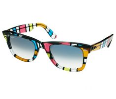 Multi-coloured Raybans. http://www.vogue.in/content/20-best-neon-accessories#2