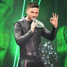 Sergey Lazarev Skinny Leather Pants, Mens Leather Pants, Leather Leggings, Camouflage Pants For Men, Ukraine, Sergey Lazarev, Leather Underwear, Gothic Punk Fashion, Skinny Guys