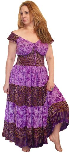 d5df6dbea7b7 Lotustraders Peasant Maxi Dress Smocked Batik Art Lavender Lilac     You  can find out more details at the link of the image.