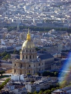 Les Invalides viewed from Montparnasse Tower
