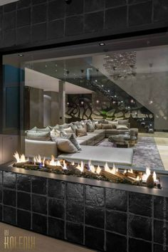 contemporary luxurious home interior design kolenik 4 - checkout that electric fireplace.