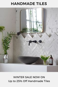 Our Winter Sale is now on - with up to 25% off handmade tiles. Perfect cement tiles for kitchens, bathrooms & hallways.