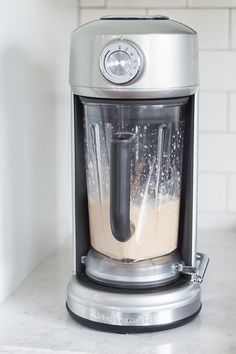 """Happy New Year! This """"Apple Pie"""" Smoothie Bowl made with the KitchenAid® Spiralizer Attachment and Torrent™ Blender is a great way to ease back into healthy eating. Find the recipe by @bakingamoment on our blog: http://kitchen.ai/GB5bHv"""
