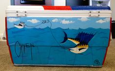 Guy Harvey themed cooler- Paint his name in Guy Harvey's signature print for a personal touch