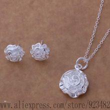 As188 925 sistemas de la joyería pendiente 141 + collar 301 / aroajiva dueamlla(China (Mainland))