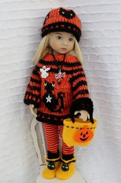 """Ready For Halloween Outfit with boots for Little Darlings Effner 13"""" by Barbara #DiannaEffner"""