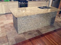 Captivating This Sand Blend Install Works Seamlessly With The Granite Countertops...  And Say Goodbye