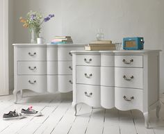 *Our beautiful Mathilde chest of drawers in French grey. | Loafhome