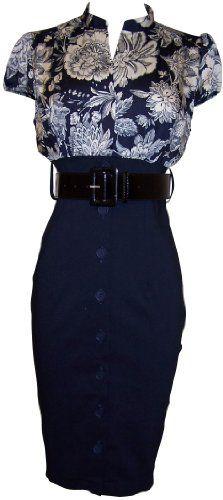 Satin Top Dress w/Belted Black Pencil Skirt Junior Plus Size
