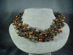 Swarovski Pearl Wire Crochet Necklace