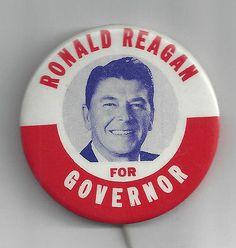 1970 RONALD REAGAN FOR CALIFORNIA GOVERNOR CAMPAIGN BUTTON