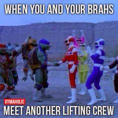 When you and your brahs meet another lifting crew  Let's lift together my friends!  http://www.gymaholic.co/fitness  #fit #fitness #fitblr #fitspo #motivation #gym #gymaholic #workouts #nutrition #supplements #muscles