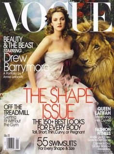 Beauty and the Beast starring Drew Barrymore a Portfolio by Annie Leibovitz