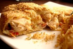 Chicken Pastry Bundles with Red Pepper and Cream Cheese
