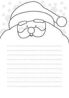Resultado de imagem para carta pai natal imprimir