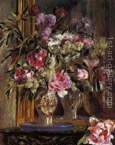 Vase of Flowers 2  By Pierre Auguste Renoir (French, 1841-1919)