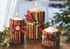 DIY – Cinnamon Candles  Get the How to @ www.elenaarsenoglou.com