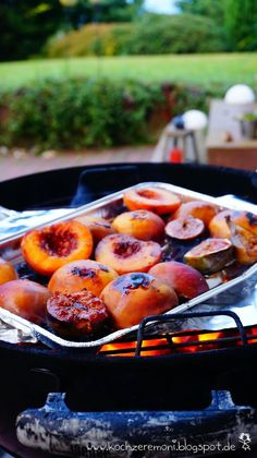 Poke Cake Recipes, Fruit Recipes, Summer Recipes, Grilled Fruit, Grilled Peaches, Barbecue Recipes, Grilling Recipes, Grill Dessert, Spareribs