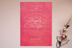 So romantic and elegant! Ever After by Jill Means at minted.com