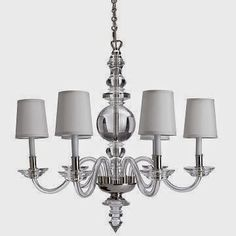 Chandelier by Williams Sonoma Home - approx $2000 US.  Made by Visual Comfort.  Splurge on the Real Deal or Save on an Imitation? | The Small and Chic Home